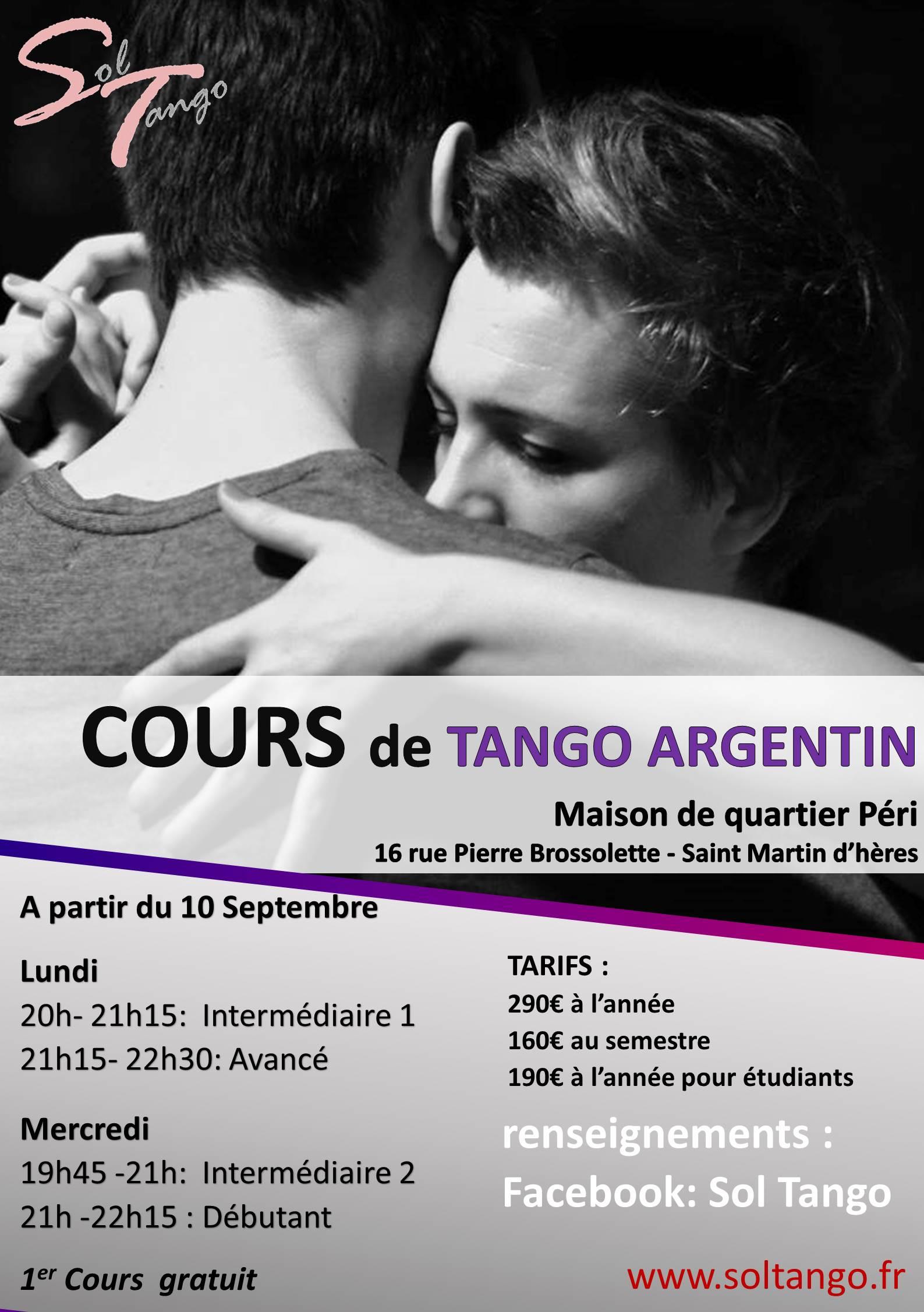 Pendant le mois de Septembre, Venez essayer le Tango Argentin !